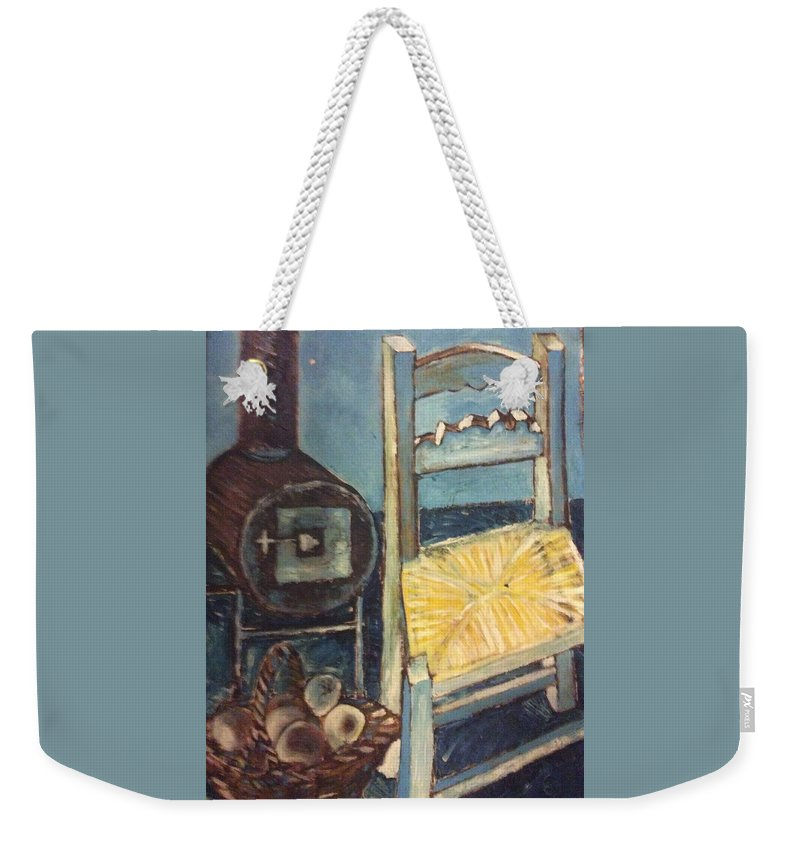 Interior Weekender Tote Bag featuring the painting Stove and chair by Biagio Civale