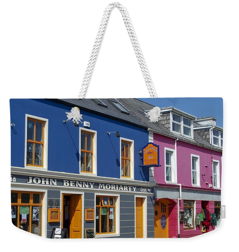 Irish Weekender Tote Bag featuring the photograph Strand Street in Dingle Ireland by Teresa Mucha
