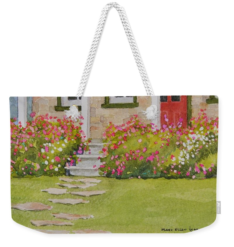 Garden Weekender Tote Bag featuring the painting Summer Glory by Mary Ellen Mueller Legault