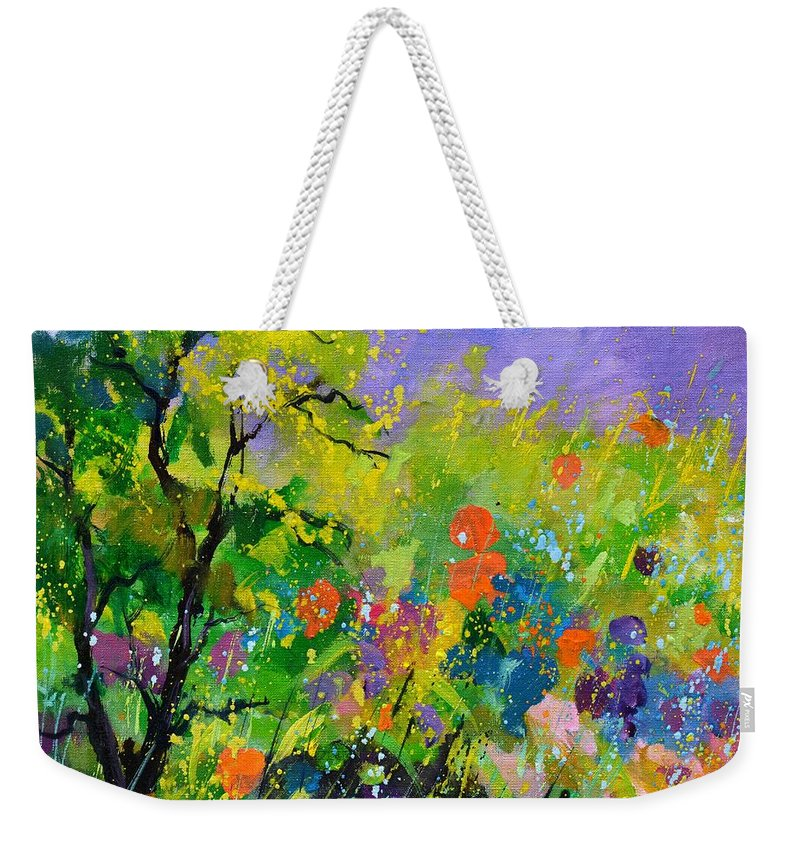 Summer Weekender Tote Bag featuring the painting Summertime by Pol Ledent