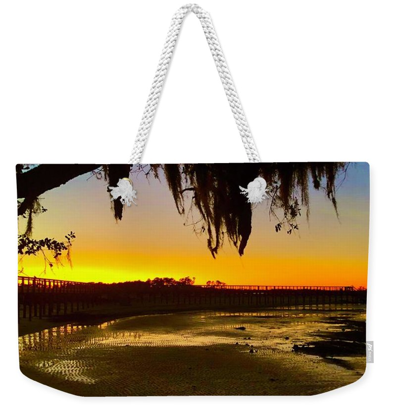 Landscape Weekender Tote Bag featuring the photograph Sunset 2 by Michael Stothard