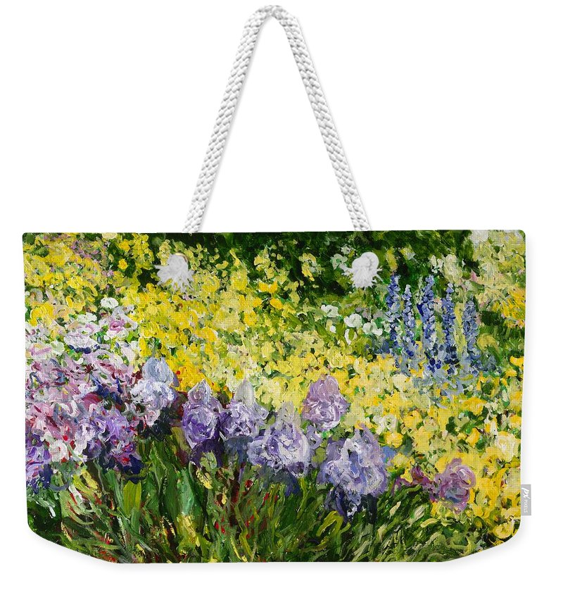 Landscape Weekender Tote Bag featuring the painting Sunshine Blossoms by Allan P Friedlander