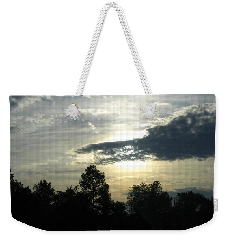 Landscape Weekender Tote Bag featuring the photograph Surreal by Rhonda Barrett