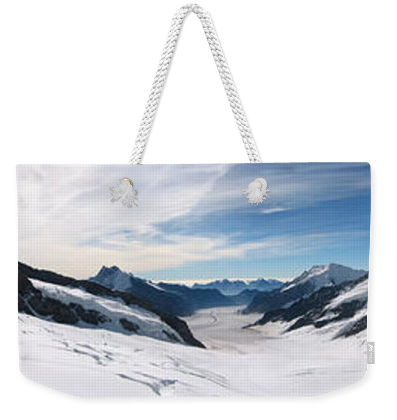 3scape Weekender Tote Bag featuring the photograph Swiss Alps by Adam Romanowicz