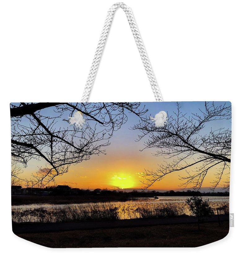 Sunset Weekender Tote Bag featuring the photograph Tatebayashi Sunset by Kiyoto Matsumoto