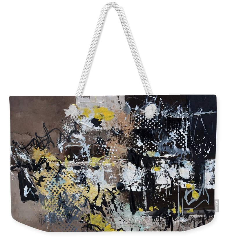 Abstract Weekender Tote Bag featuring the painting The committee room by Pol Ledent