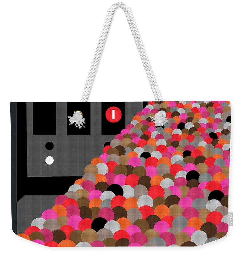 146602 Weekender Tote Bag featuring the painting The Commute by Christoph Niemann