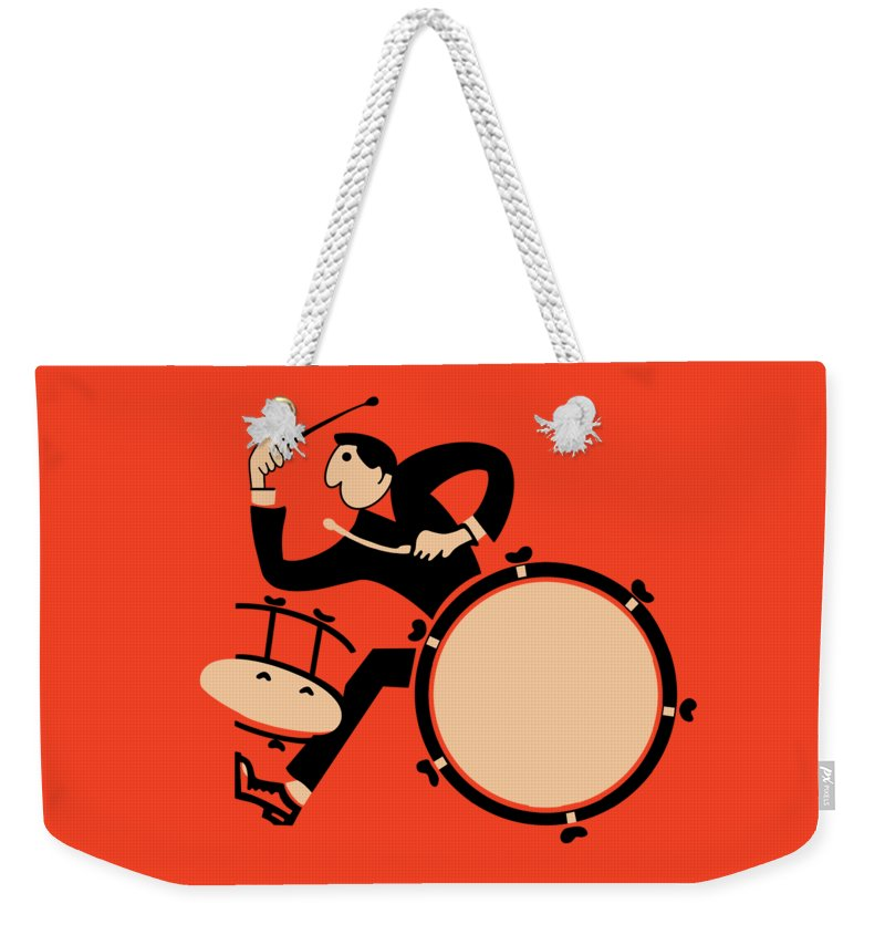 Drum Weekender Tote Bag featuring the photograph The Drummer by Mark Rogan