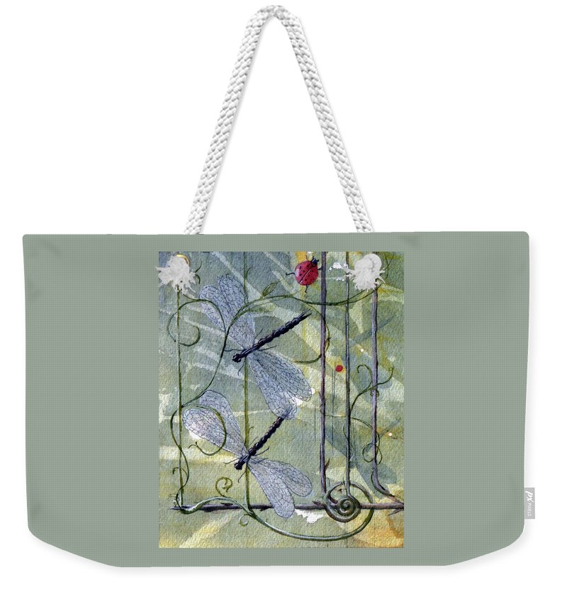 Fantasy Weekender Tote Bag featuring the painting The End of the Odyssey by Jackie Mueller-Jones