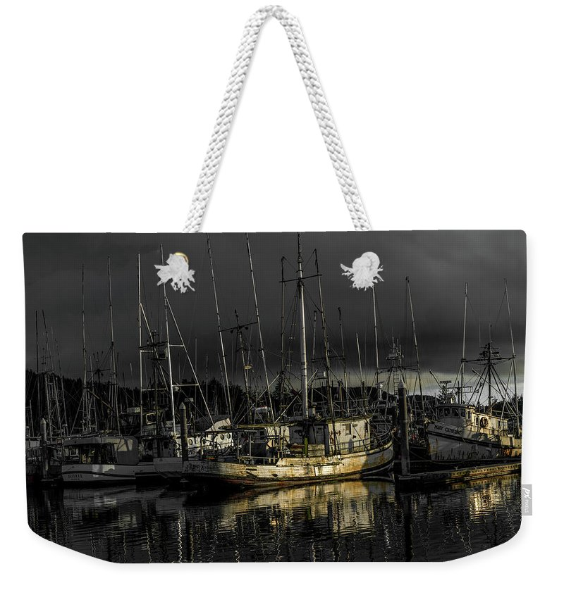 Marine Weekender Tote Bag featuring the photograph The Fishermans Fleet by Jason Brooks