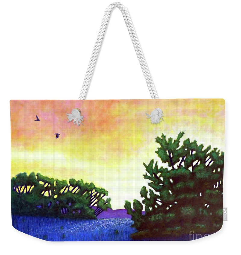 Landscape Weekender Tote Bag featuring the painting The Gospel Truth by Brian Commerford