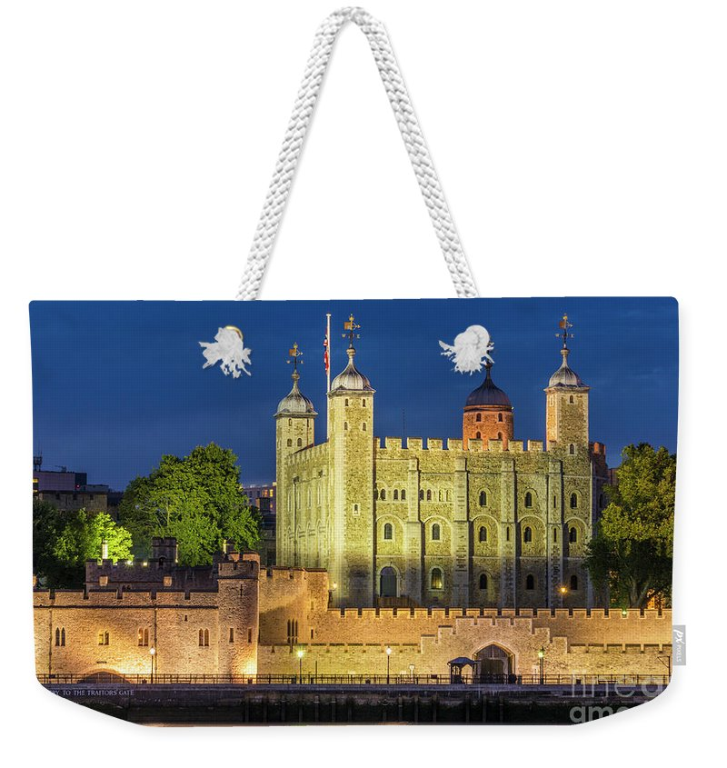 Castle Weekender Tote Bag featuring the photograph The White Tower, Tower Of London by Neale And Judith Clark