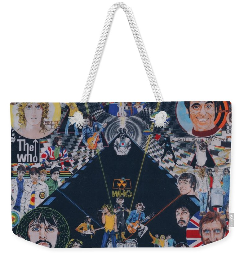 Montage Weekender Tote Bag featuring the drawing The Who - Quadrophenia by Sean Connolly