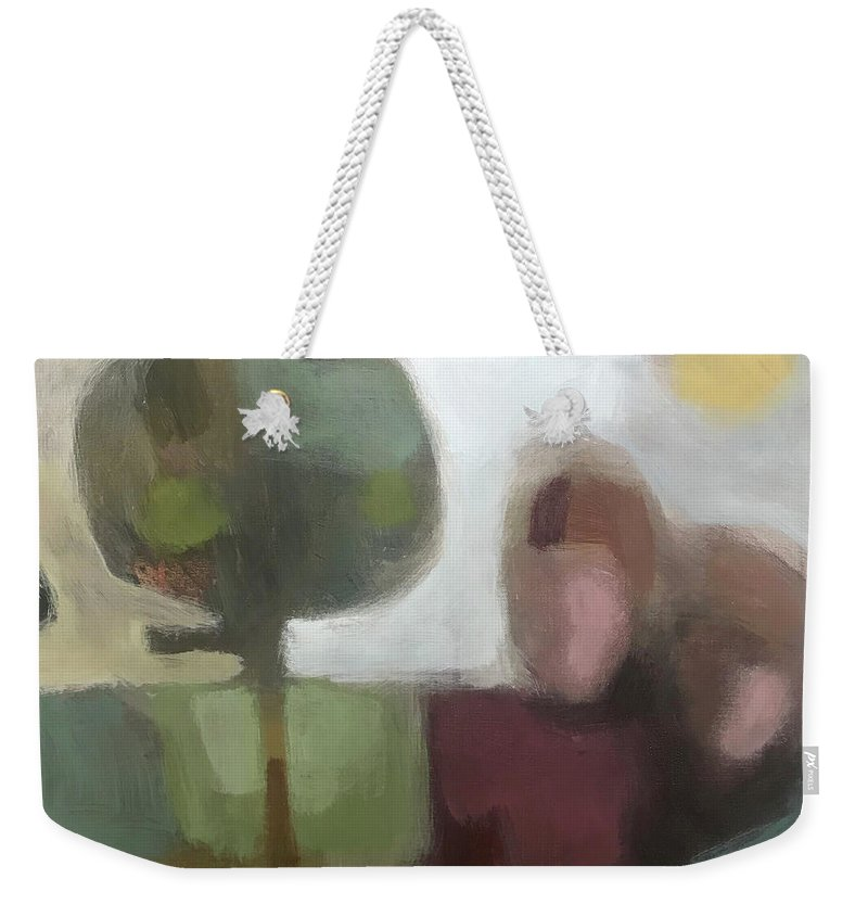 Landscape Weekender Tote Bag featuring the painting Together by Farhan Abouassali