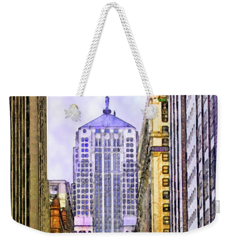 Trading Places Weekender Tote Bag featuring the digital art Trading Places by John Robert Beck