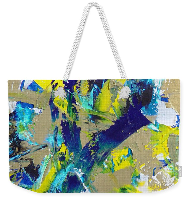 Abstract Weekender Tote Bag featuring the painting Transitions IX by Dean Triolo