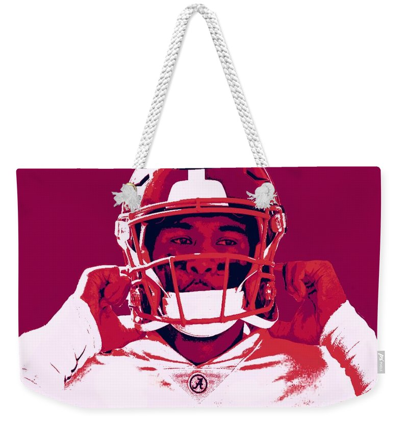 Tua Weekender Tote Bag featuring the painting Tua by Jack Bunds