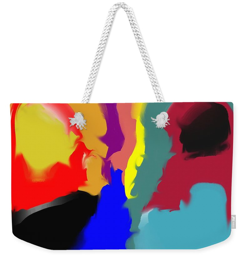 Abstract Weekender Tote Bag featuring the digital art Two Peas in a Pod by Pharris Art