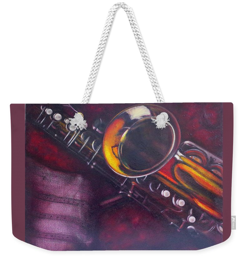 Realism Weekender Tote Bag featuring the painting Unprotected Sax by Sean Connolly