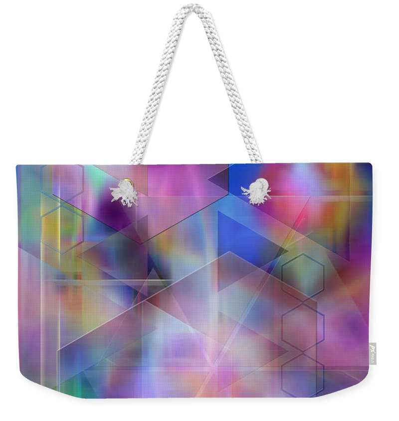 Usonian Dreams Weekender Tote Bag featuring the digital art Usonian Dreams by John Robert Beck