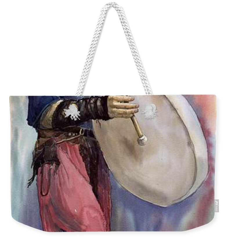 Watercolor Weekender Tote Bag featuring the painting Varius Coloribus Steve O Klat by Yuriy Shevchuk