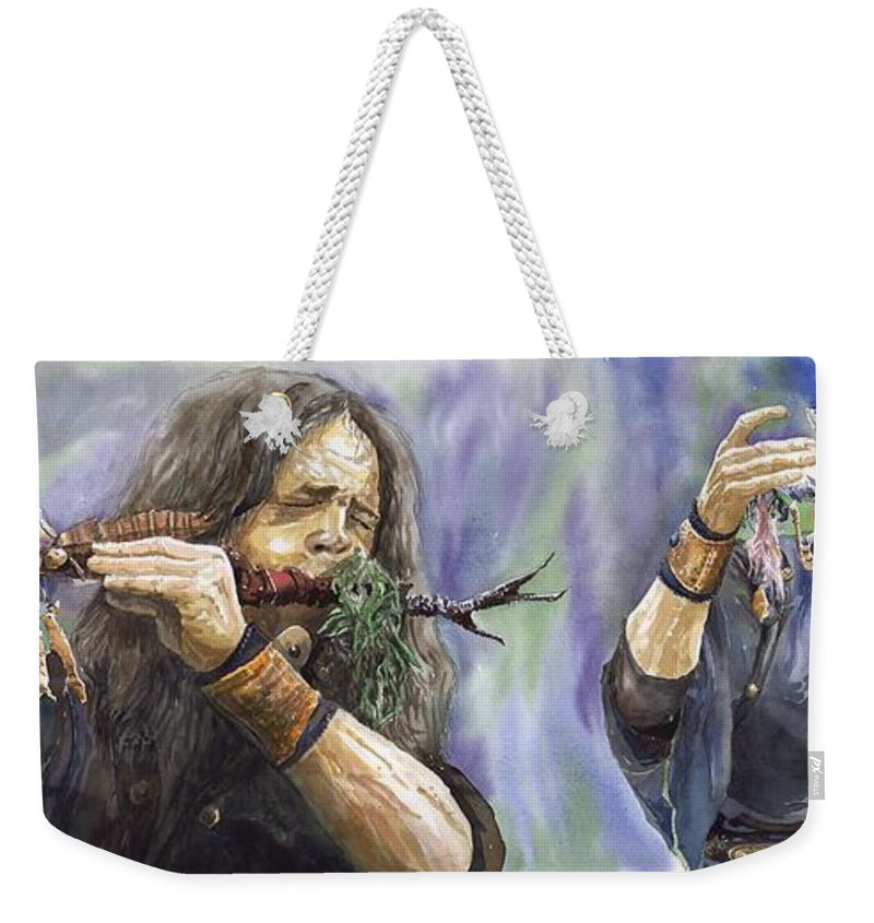Watercolor Weekender Tote Bag featuring the painting Varius Coloribus The Morning Song by Yuriy Shevchuk