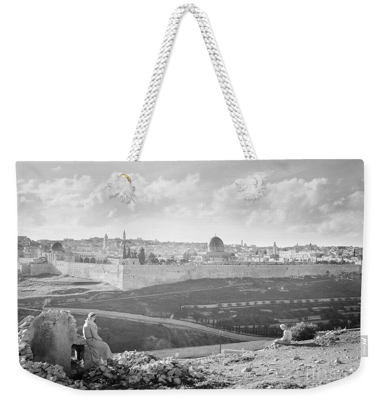 1941 Weekender Tote Bag featuring the photograph View Towards Jerusalem, 1941 by Granger