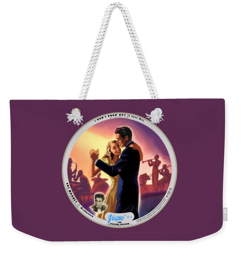 Vogue Picture Record Weekender Tote Bag featuring the digital art Vogue Record Art - 732-13 - P 40 - Square Version by John Robert Beck