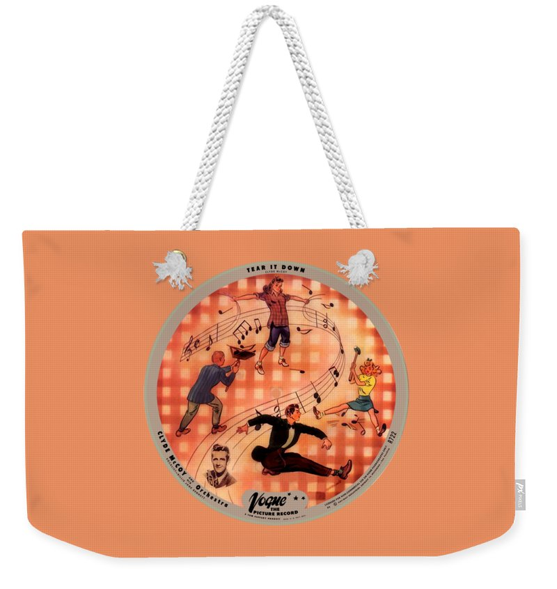 Vogue Picture Record Weekender Tote Bag featuring the photograph Vogue Record Art - R 722 - P 6 - Square Version by John Robert Beck