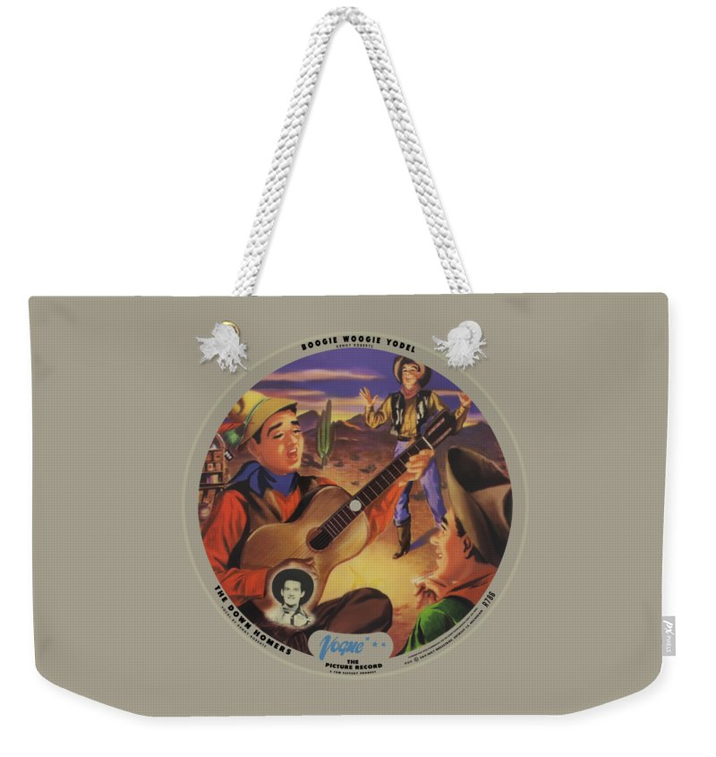 Vogue Picture Record Weekender Tote Bag featuring the digital art Vogue Record Art - R 786 - P 52 - Square Version by John Robert Beck