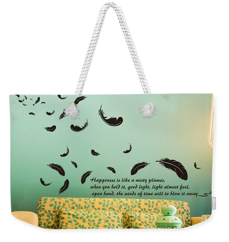 Weekender Tote Bag featuring the digital art Wall art by Wild