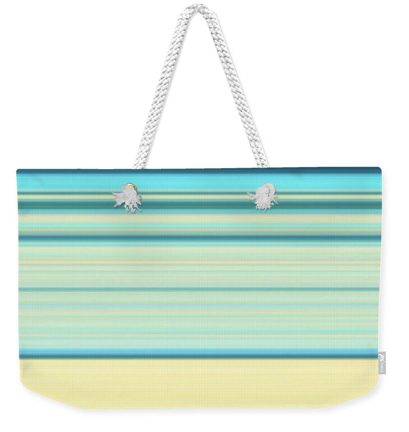 Waves Weekender Tote Bag featuring the digital art Waves of blue by Maria Rzeszotarska