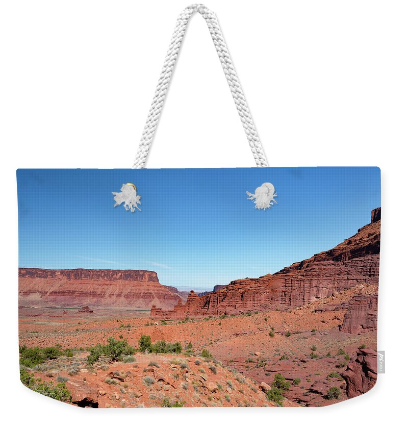 Fisher Towers Weekender Tote Bag featuring the photograph Wild Utah Landscape by Jim Thompson