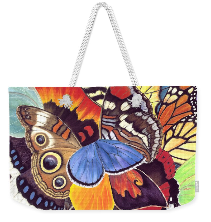 Butterflies Weekender Tote Bag featuring the painting Wings Of California by Lucy Arnold