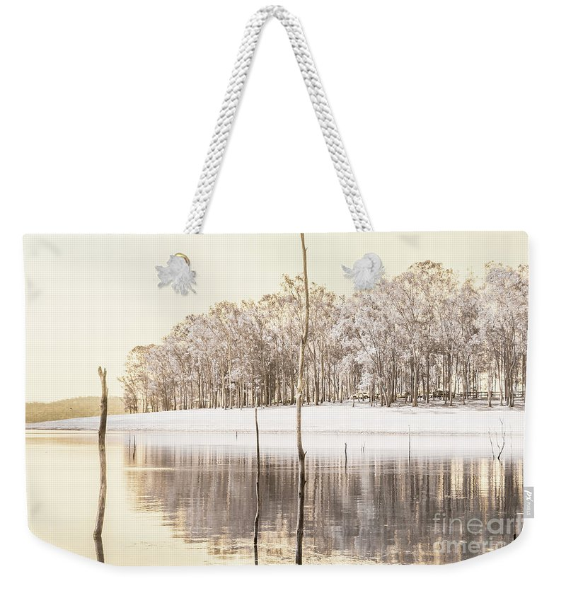 Landscape Weekender Tote Bag featuring the photograph Winters Edge by Jorgo Photography - Wall Art Gallery