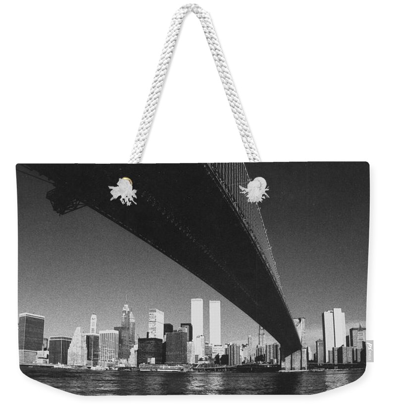 Famous Buildings Weekender Tote Bag featuring the photograph World Trade Center Nyc by Steven Huszar