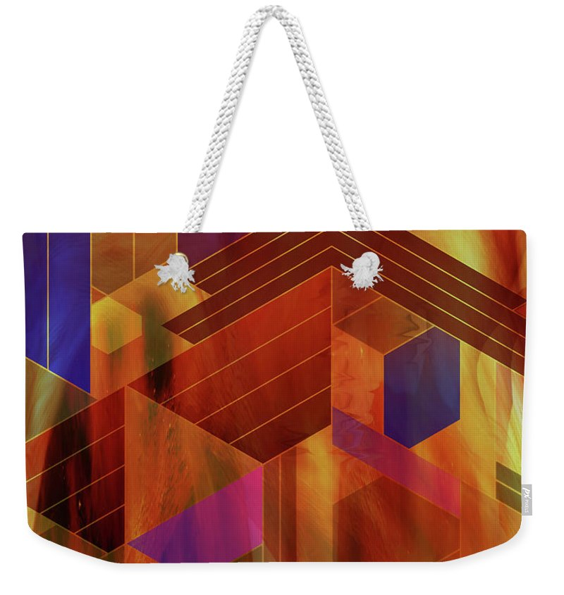 Wrightian Reflections Weekender Tote Bag featuring the digital art Wrightian Reflections by Studio B Prints