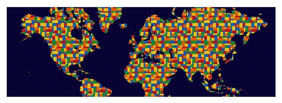 Building blocks world map yoga mat for sale by andrew fare top view gumiabroncs Gallery