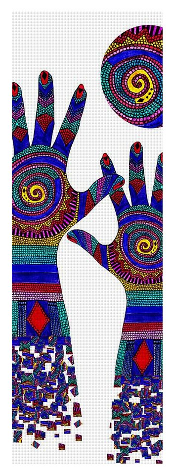 Aboriginal Hands Blue Transparent Background Yoga Mat For Sale By Barbara St Jean