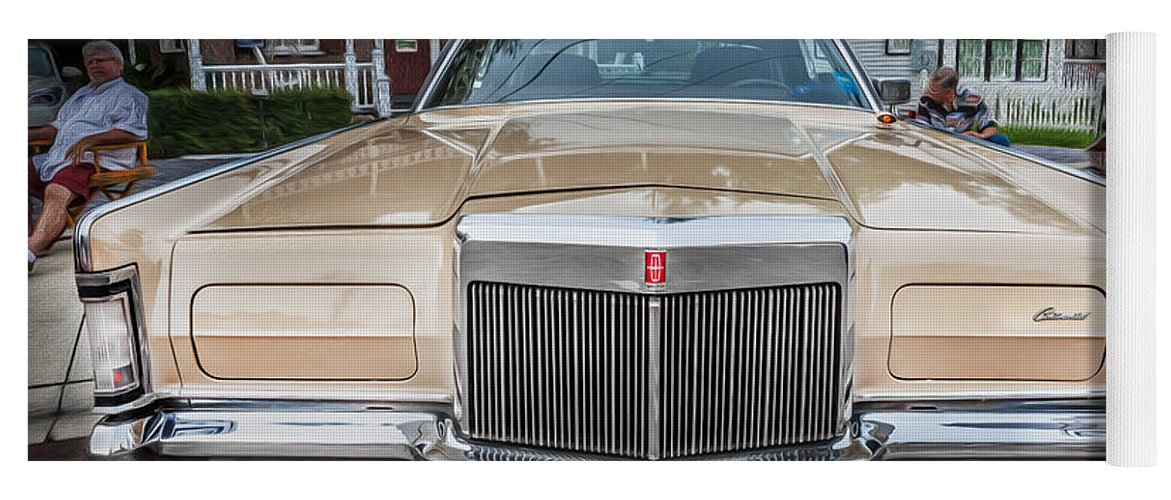 1971 Lincoln Yoga Mat featuring the photograph 1971 Lincoln Continental Mark IIi Painted by Rich Franco