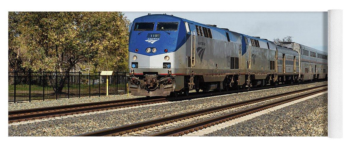 Rocklin Yoga Mat featuring the photograph Amtrak 119 by Jim Thompson