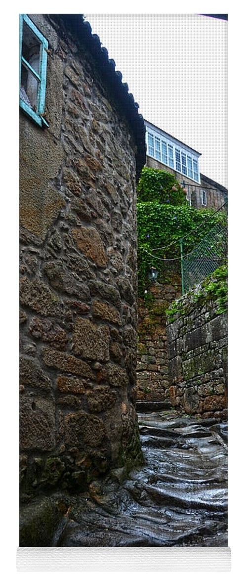 Ancient Yoga Mat featuring the photograph Ancient Street In Tui by RicardMN Photography