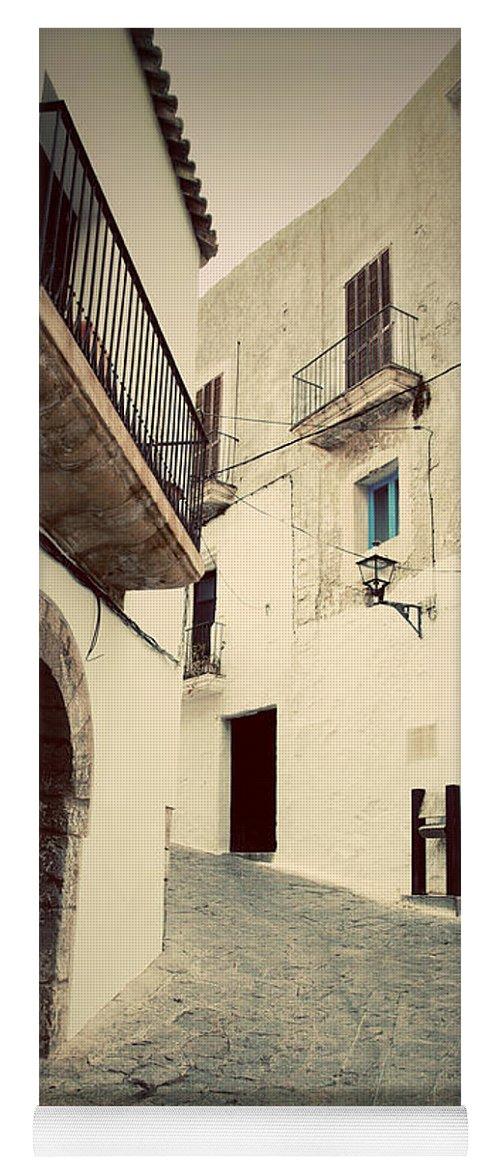 Ibiza Yoga Mat featuring the photograph Architecture Of Old City Of Ibiza Spain by Michal Bednarek