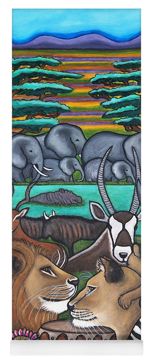 Africa Yoga Mat featuring the painting Colours of Africa by Lisa Lorenz