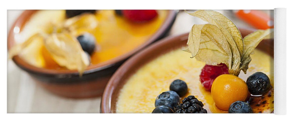 Creme Brulee Yoga Mat featuring the photograph Creme Brulee Dessert by Elena Elisseeva