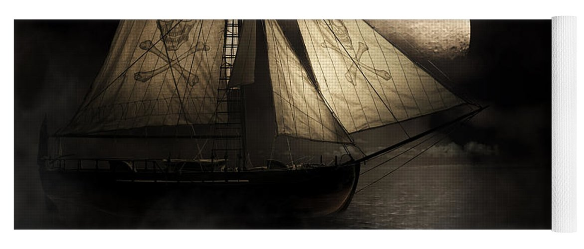 Black Yoga Mat featuring the photograph Ghost Ship by Jorgo Photography - Wall Art Gallery
