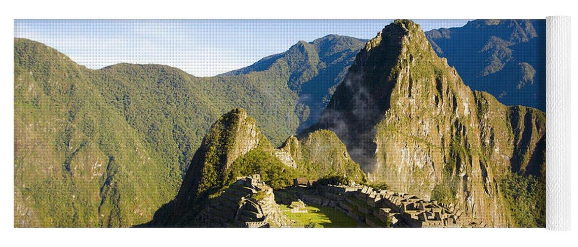 Machu Picchu Yoga Mat featuring the photograph Machu Picchu by Alexey Stiop