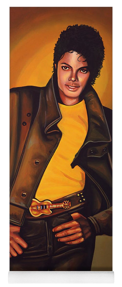 Michael Jackson Yoga Mat featuring the painting Michael Jackson by Paul Meijering