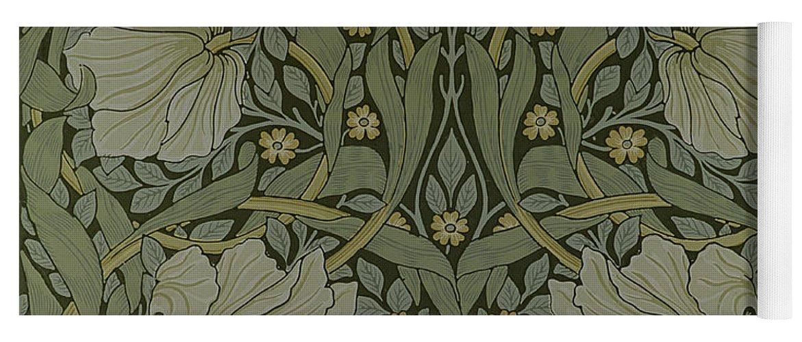 Pimpernel Wallpaper Design Yoga Mat For Sale By William Morris