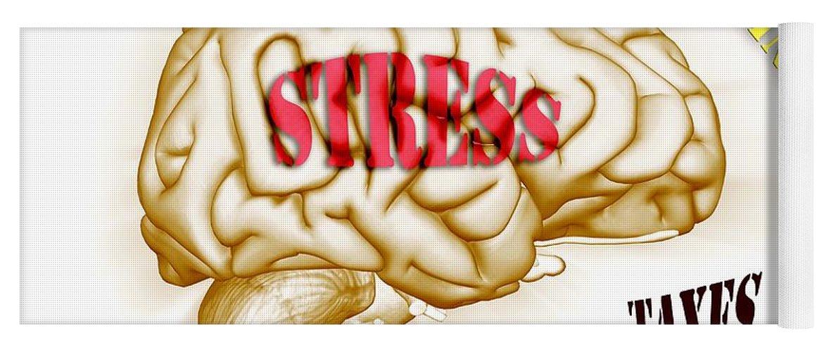 Anguish Yoga Mat featuring the photograph Stress by Scott Camazine